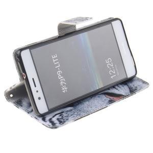 Floaty peněženkové pouzdro na mobil Huawei P9 Lite - tygr - 5