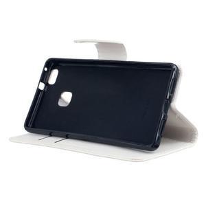 Wall PU kožené pouzdro na Huawei P9 Lite - bílé - 5