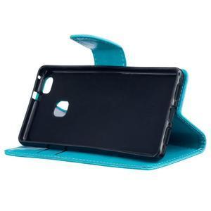 Wall PU kožené pouzdro na Huawei P9 Lite - modré - 5