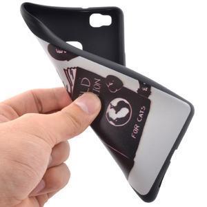 Softy gelový obal na mobil Huawei P9 Lite - kočička - 5