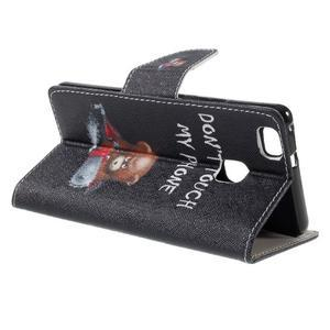 Richi PU kožené pouzdro na Huawei P9 Lite - medvídek - 5