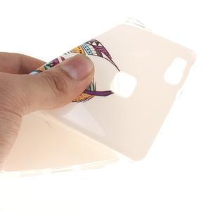 Gelový obal na Huawei P9 Lite - barevná peříčka - 5