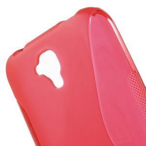 S-line gelový obal na mobil Huawei Y5 a Y560 - červený - 5
