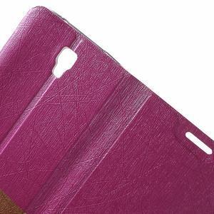 Lines knížkové pouzdro na Huawei Y5 a Y560 - rose - 5