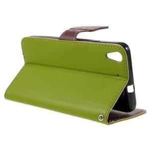 Leaf PU kožené pouzdro na mobil Huawei Y6 - zelené - 5
