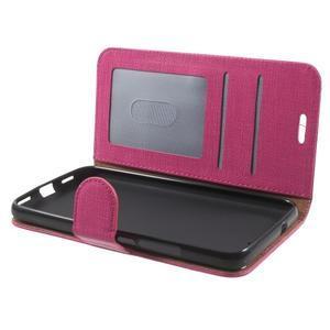 Clothy PU kožené pouzdro na Huawei Y6 - rose - 5