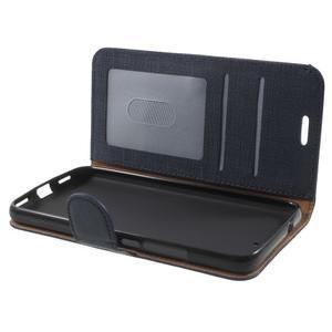 Clothy PU kožené pouzdro na Huawei Y6 - tmavěmodré - 5