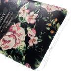 Softy gelový obal na mobil Huawei Y6 - květina na černém pozadí - 5/6