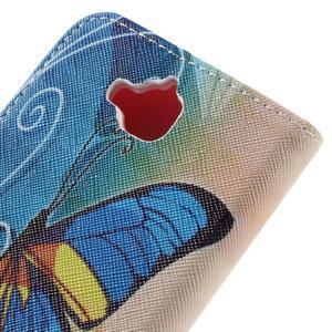 Emotive peňaženkové puzdro na mobil Huawei Y6 Pro - modrý motýľ - 5