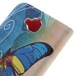Emotive peňaženkové puzdro na mobil Huawei Y6 Pro - modrý motýľ - 5/7