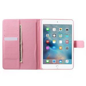 Stylové pouzdro na iPad mini 4 - fialový květ - 5