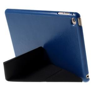Origami polhovatelné pouzdro na iPad mini 4 - tmavěmodré - 5