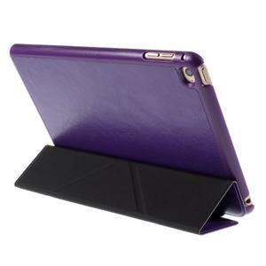 Origami polhovatelné pouzdro na iPad mini 4 - fialové - 5