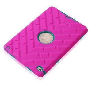 Vysoce odolný silikonový obal na tablet iPad mini 4 - rose/zelený - 5