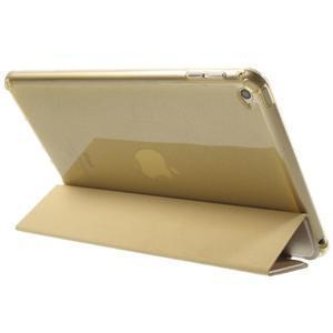 Trifold trojpolohové pouzdro na tablet iPad mini 4 - zlaté - 5