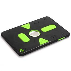 Outdoor dvoudílný gelový/plastový obal na iPad mini 4 - zelený - 5