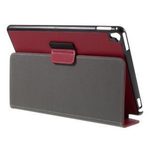 Clothy PU kožené pouzdro na iPad Pro 9.7 - červené - 5