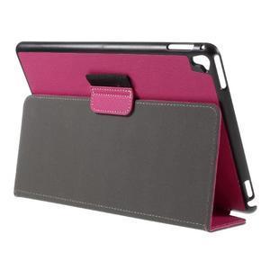 Clothy PU textilní pouzdro na iPad Pro 9.7 - rose - 5