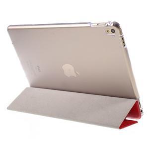 Trifold polohovatelné pouzdro na tablet iPad Pro 9.7 - červené - 5