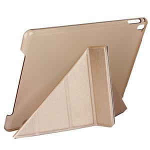 Extra origami polohovatelné pouzdro na iPad Pro 9.7 - zlaté - 5