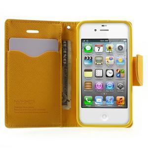Fancys PU kožené pouzdro na iPhone 4 - zelené - 5