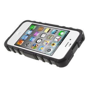 Outdoor odolný obal na mobil iPhone 4 - černý - 5