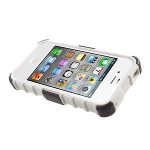 Outdoor odolný obal na mobil iPhone 4 - bílý - 5