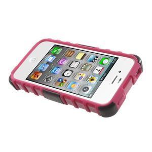 Outdoor odolný obal na mobil iPhone 4 - rose - 5
