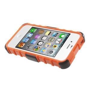 Outdoor odolný obal na mobil iPhone 4 - oranžový - 5