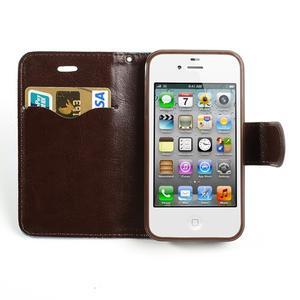 Jeans peněženkové pouzdro na iPhone 4 - světlemodré - 5