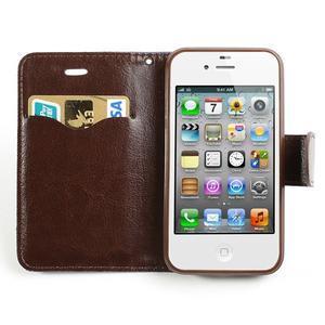 Jeans peněženkové pouzdro na iPhone 4 - modré - 5