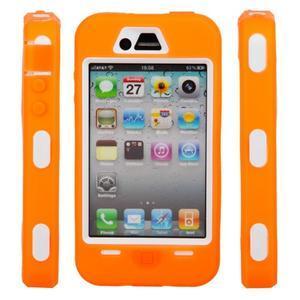 Armor vysoce odolný obal na iPhone 4 - oranžový - 5