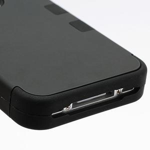 Extreme odolný kryt 3v1 na mobil iPhone 4 - černý - 5