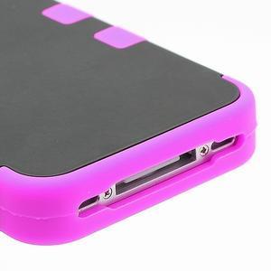 Extreme odolný kryt 3v1 na mobil iPhone 4 - fialovorůžový - 5