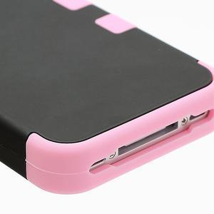 Extreme odolný kryt 3v1 na mobil iPhone 4 - růžový - 5