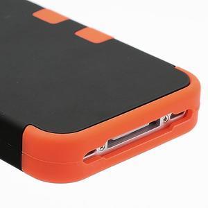 Extreme odolný kryt 3v1 na mobil iPhone 4 - oranžový - 5
