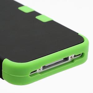 Extreme odolný kryt 3v1 na mobil iPhone 4 - zelený - 5