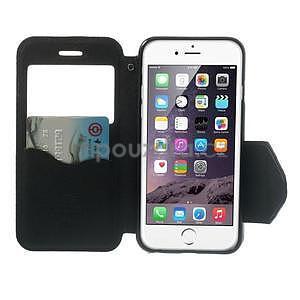 Peněženkové pouzdro s okýnkem na iPhone 6 a 6s -  tmavěmodré - 5