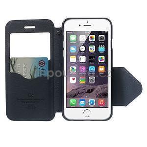 Peněženkové pouzdro s okýnkem na iPhone 6 a 6s - fialové - 5