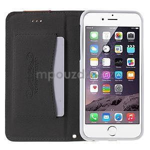 Klopové pouzdro na iPhone 6 a iPhone 6s - bílé - 5