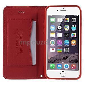 Klopové pouzdro na iPhone 6 a iPhone 6s - červené - 5