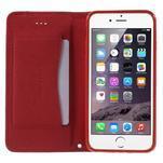 Klopové pouzdro na iPhone 6 a iPhone 6s - červené - 5/7