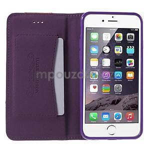 Klopové pouzdro na iPhone 6 a iPhone 6s - fialové - 5