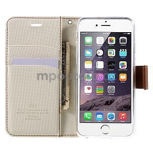 Peněženkové koženkové pouzdro na iPhone 6s a 6 - bílé - 5