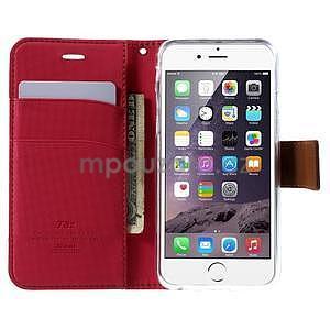 Peněženkové koženkové pouzdro na iPhone 6s a 6 - rose - 5