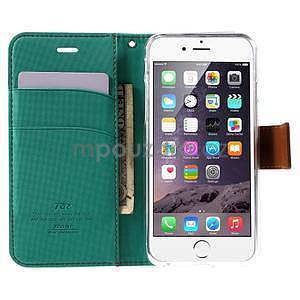 Peněženkové koženkové pouzdro na iPhone 6s a 6 - zelené - 5