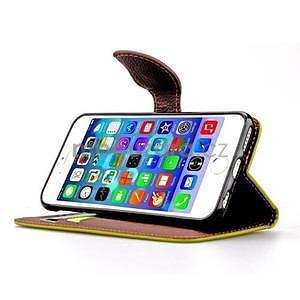 PU kožené peněženkové pouzdro pro iPhone 6s a 6 - zelené - 5