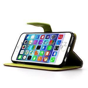 PU kožené peněženkové pouzdro pro iPhone 6s a 6 - hnědé - 5