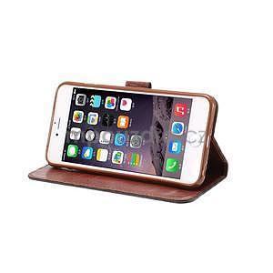 Mřížkované koženkové pouzdro na iPhone 6 a iPhone 6s - černé - 5