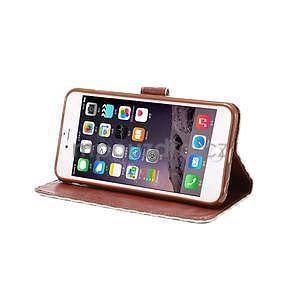 Mřížkované koženkové pouzdro na iPhone 6 a iPhone 6s - šedé - 5